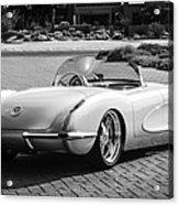 1960 Chevrolet Corvette -0880bw Acrylic Print