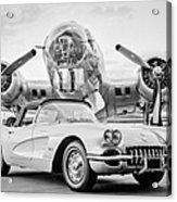 1960 Chevrolet Corvette - B-17 Bomber Acrylic Print