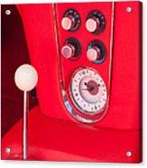 1960 Chevrolet Corvette Control Panel Acrylic Print