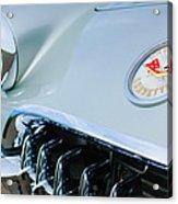 1960 Chevrolet Corvette Hood Emblem Acrylic Print