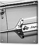 1960 Chevrolet Impala Emblem -340bw Acrylic Print