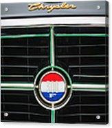 1960 Chrysler 300f Convertible Grille Emblem Acrylic Print