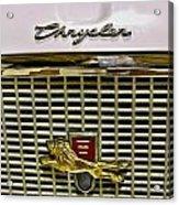 1960 Chrysler Windsor Hood Grill Acrylic Print