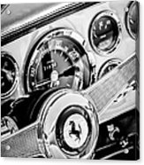 1960 Ferrari 250 Gt Cabriolet Pininfarina Series II Steering Wheel Emblem -1319bw Acrylic Print