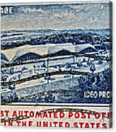 1960 First Automated Post Office Stamp Providence Rhode Island Acrylic Print