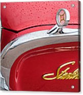 1960 Ford Galaxie Starliner Hood Ornament - Emblem Acrylic Print
