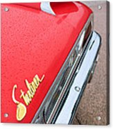 1960 Ford Galaxie Starliner Taillight Emblem Acrylic Print