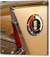 1960 Plymouth Fury Convertible Taillight And Emblem Acrylic Print