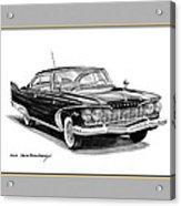 Plymouth Fury Acrylic Print