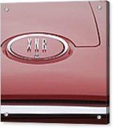 1960 Plymouth Xnr Ghia Roadster  Emblem Acrylic Print by Jill Reger