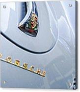 1960 Porsche 356 B 1600 Super Roadster Hood Emblem Acrylic Print by Jill Reger