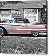 1960 Thunderbird Bw Acrylic Print