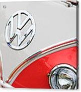 1960 Volkswagen Vw 23 Window Microbus Emblem Acrylic Print by Jill Reger