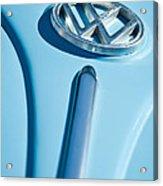 1960 Volkswagen Vw Hood Emblem Acrylic Print