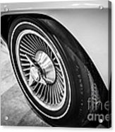 1960's Chevrolet Corvette C2 Spinner Wheel Acrylic Print by Paul Velgos