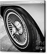 1960's Chevrolet Corvette C2 Spinner Wheel Acrylic Print