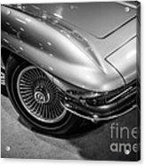 1960's Corvette C2 In Black And White Acrylic Print by Paul Velgos
