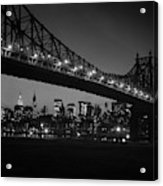 1960s Queensboro Bridge And Manhattan Acrylic Print