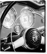 1961 Alfa Romeo Giulietta Spider Steering Wheel Emblem -1239bw Acrylic Print