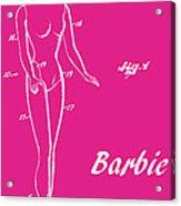 1961 Barbie Doll Patent Art 1 Acrylic Print