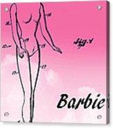1961 Barbie Doll Patent Art 2 Acrylic Print