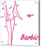 1961 Barbie Doll Patent Art 3 Acrylic Print