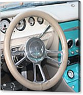 1961 Buick Two Door Sedan Dashboard Acrylic Print
