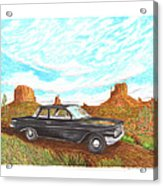 1961 Chevrolet Biscayne 409 In Monument Valley Acrylic Print