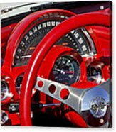 1961 Chevrolet Corvette Steering Wheel 2 Acrylic Print