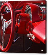 1961 Chevrolet Corvette Steering Wheel Acrylic Print