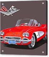 1961 Corvette Convertible Acrylic Print