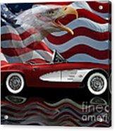 1961 Corvette Tribute Acrylic Print