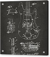 1961 Fender Guitar Patent Artwork - Gray Acrylic Print