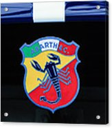 1961 Fiat-abarth 1000 Bialbero Gt Competition Coupe Emblem Acrylic Print