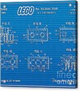 1961 Lego Building Blocks Patent Art 1 Acrylic Print