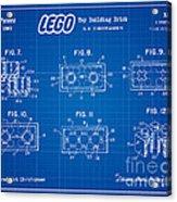 1961 Lego Building Blocks Patent Art 4 Acrylic Print