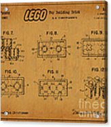 1961 Lego Building Blocks Patent Art 6 Acrylic Print
