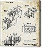 1961 Lego Patent Acrylic Print