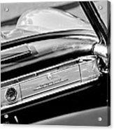 1961 Mercedes-benz 300 Sl Roadster Dashboard Emblem Acrylic Print