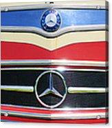1961 Mercedes-benz Type O321h Bus Grille Emblem Acrylic Print