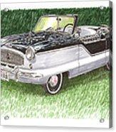 1961 Nash Metro Convertible Acrylic Print