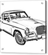 1961 Studebaker Hawk Coupe Illustration Acrylic Print