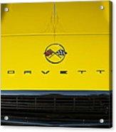 1962 Chevrolet Corvette Convertible Hood Emblem Acrylic Print