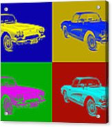 1962 Chevrolet Corvette Convertible Pop Art Acrylic Print