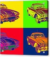 1962 Chevrolet Corvette Pop Art Acrylic Print