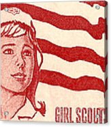 1962 Girl Scouts Of America Postage Stamp Acrylic Print