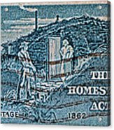 1962 Homestead Act Stamp Acrylic Print