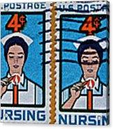 1962 Nursing Stamp Collage Acrylic Print