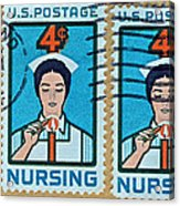 1962 Nursing Stamp Collage - Oakland Ca Postmark Acrylic Print