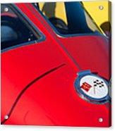 1963 Chevrolet Corvette Convertible Emblem Acrylic Print